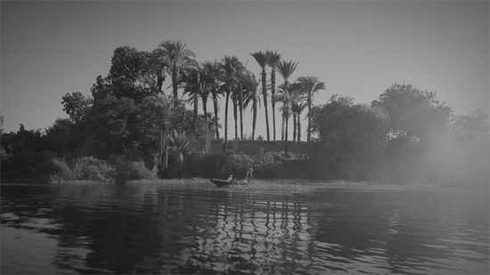 Wael Shawky — Al Araba Al Madfuna (video still), 2012 Video, b/w, sound, 21:21 min