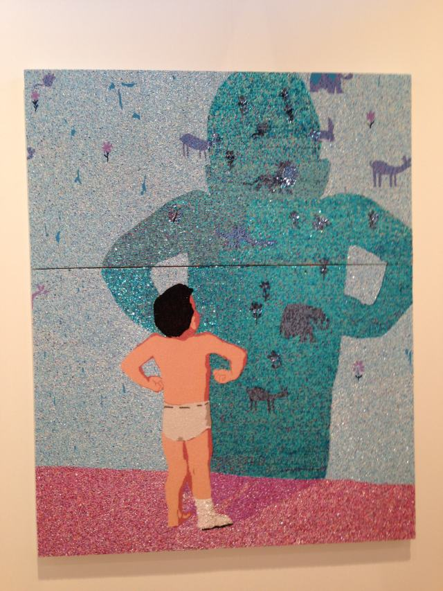 Farhad Moshiri's 'Portrait of Thermometer,' 197 x 149 cm @ Galerie Perrotin's booth