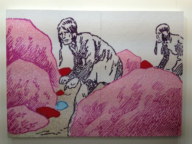 Farhad Moshiri's 'Ambush,' 120 x196 cm @ Ropac's booth