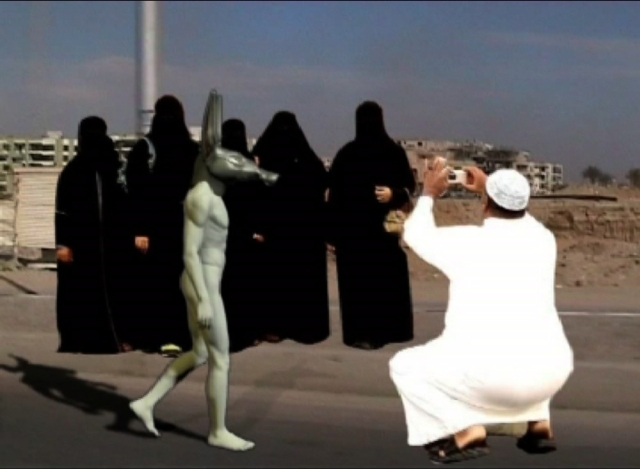 Khaled Hafez (Egypt) The A77A Project: on Presidents & Superheroes (still from video), 2009