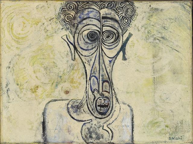 Self-Portrait of Suffering 1961 © Ibrahim El-Salahi