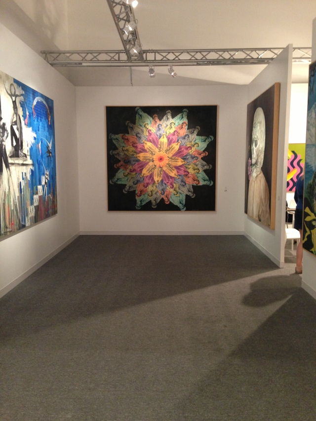 Contemporary Section of Meem Gallery Stand at Abu Dhabi Art